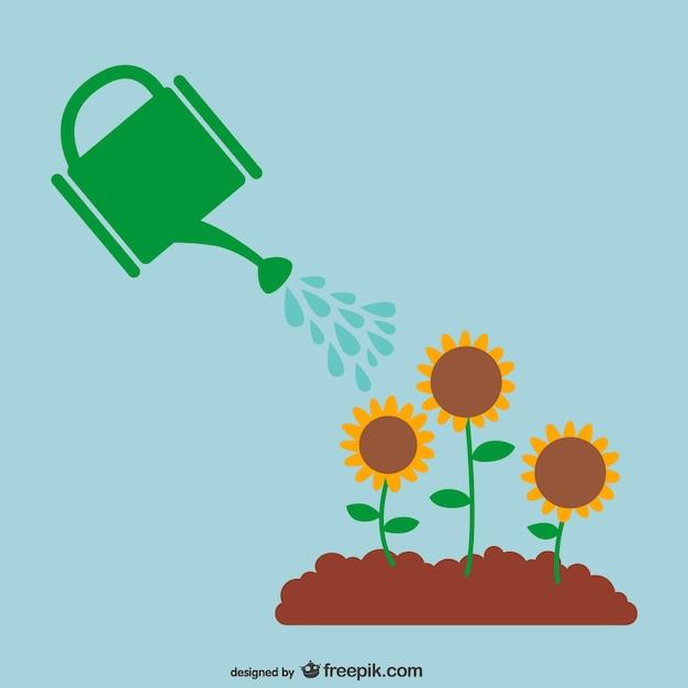 vector regando las plantas descargar vectores gratis