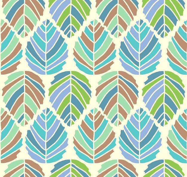 Vector simétrico de patrones sin fisuras hojas con colores de bloque ...