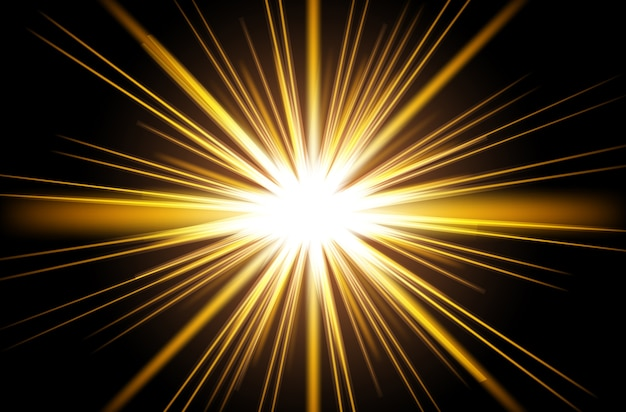 Rayos De Sol Vector: Vector Sol Amarillo Con Rayos