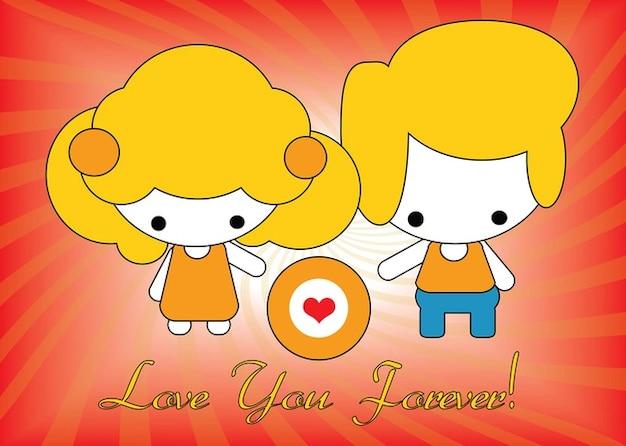 vector tarjeta de amor Vector Gratis