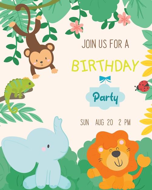 Vector De Tarjeta De Invitación De Fiesta De Cumpleaños De