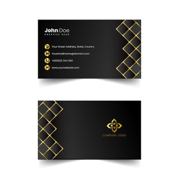 Vector de tarjeta de visita profesional dorada Vector Premium