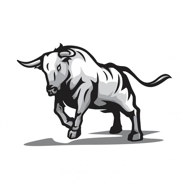 Vector de toro salvaje Vector Premium