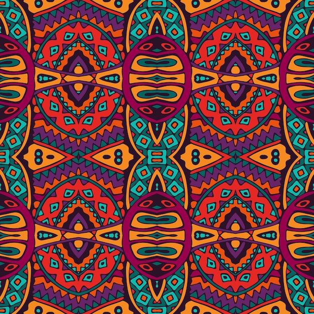 Vector tribal abstracto geométrico étnico de patrones sin fisuras ornamentales Vector Premium