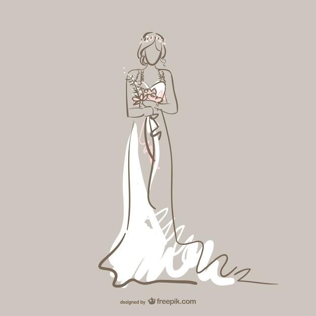 Vector vestido de boda   Descargar Vectores gratis