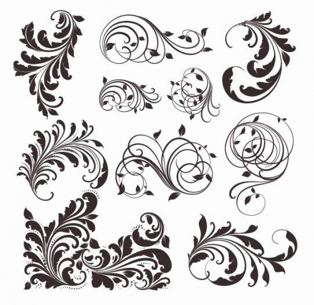 vector vintage patrones para el diseño Vector Gratis