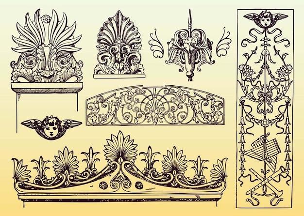 Vectores antigua decoraci n descargar vectores gratis for Decoracion art nouveau