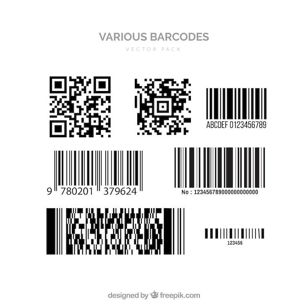 Vectores de código de barras   Descargar Vectores gratis