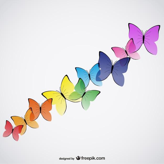 Vectores de mariposas de colores descargar vectores gratis - Imagenes de mariposas de colores ...