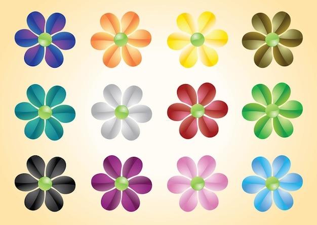 Vectores De Flores De Colores Descargar Vectores Gratis