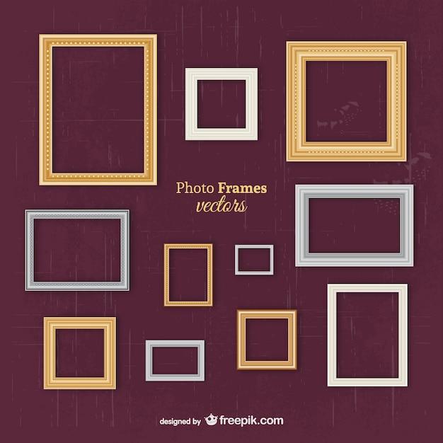 Vectores de marcos clásicos vector gratuito