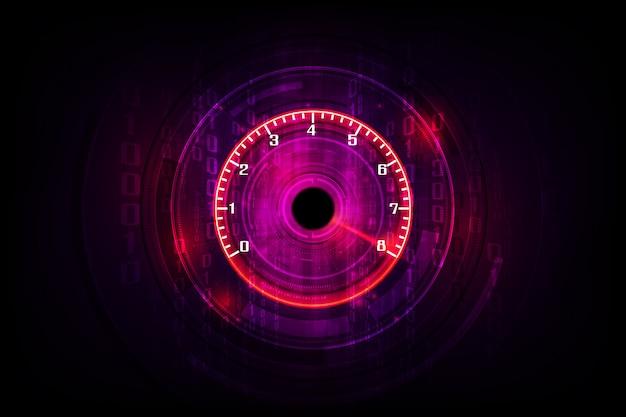 Velocidad de movimiento con velocímetro veloz. fondo de velocidad de carrera. Vector Premium