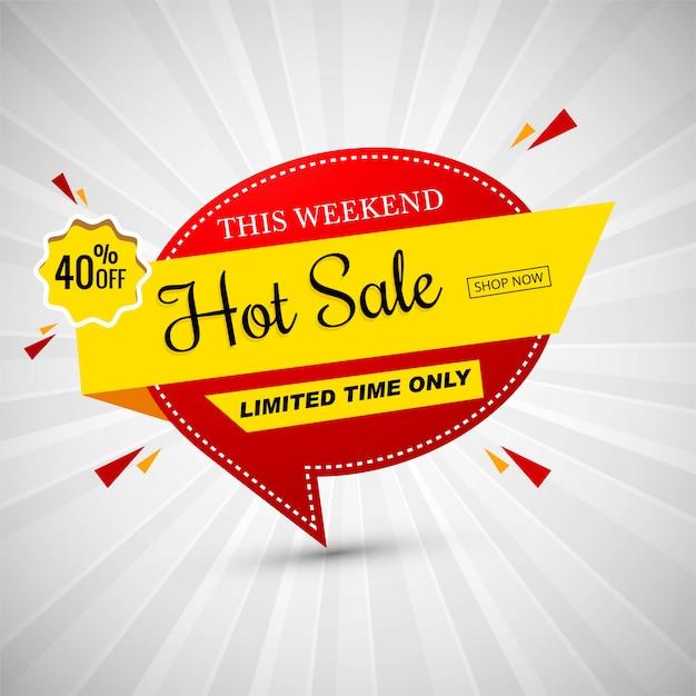 Venta caliente colorida ilustración de vector de banner vector gratuito