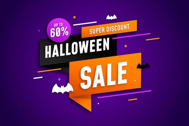 Venta feliz halloween vector gratuito