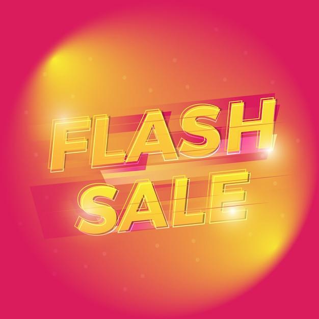 Venta flash diseño de fondo creativo Vector Premium