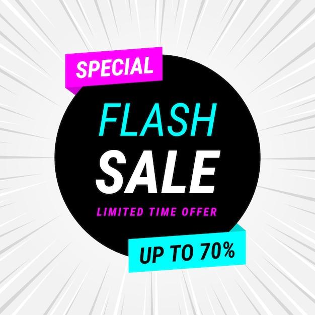 Venta flash de fondo en estilo plano vector gratuito