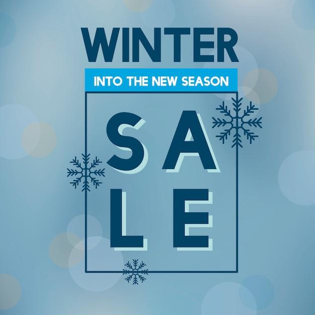 Venta de invierno en el nuevo vector de temporada. vector gratuito
