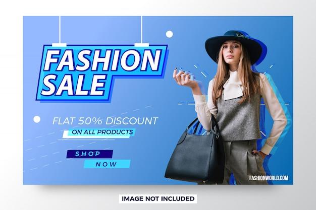 Venta de moda banner venta moderna Vector Premium