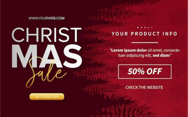 Venta moderna de feliz navidad con información del producto vector gratuito