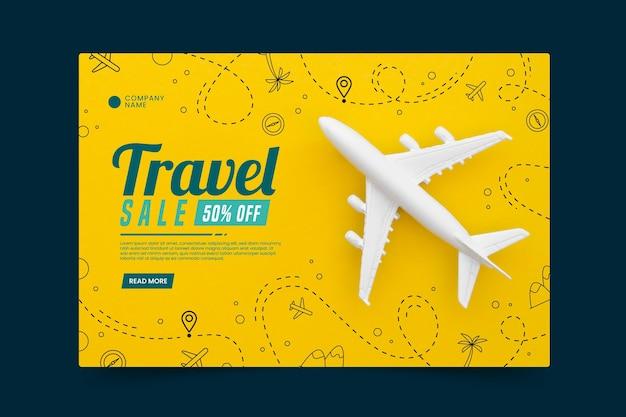Venta de viajes con página de inicio de fotos vector gratuito