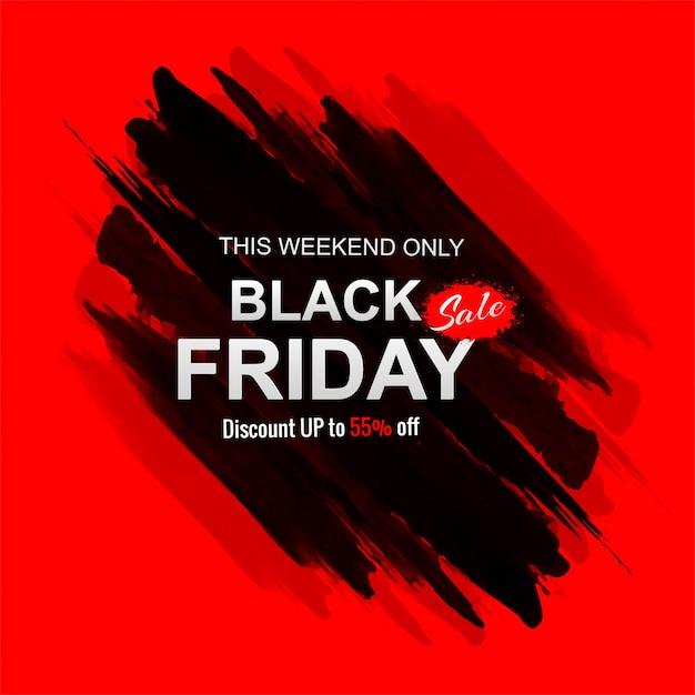 Venta de viernes negro con banner de trazo vector gratuito