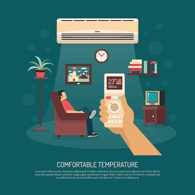Ventilación acondicionamiento calefacción ilustración vector gratuito