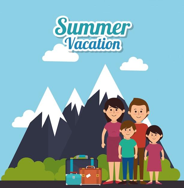 Verano, vacaciones y viajes. vector gratuito