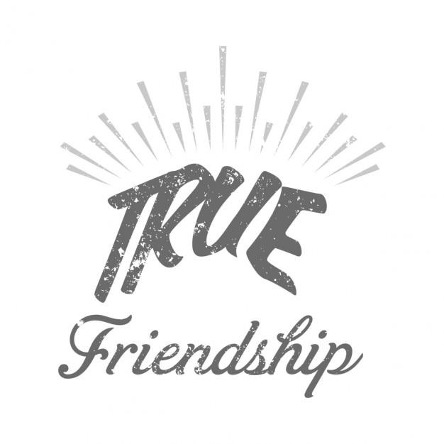 Verdaderas amistades, día de la amistad vector gratuito