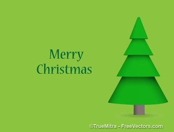 Verde Pino De La Navidad Tarjeta De Felicitación