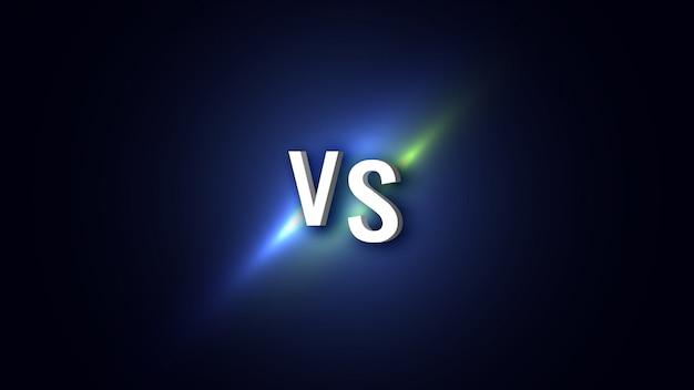 Versus banner. ilustración. Vector Premium