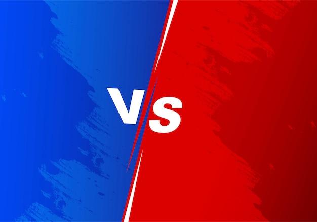 Versus competencia fondo de pantalla azul y rojo vector gratuito