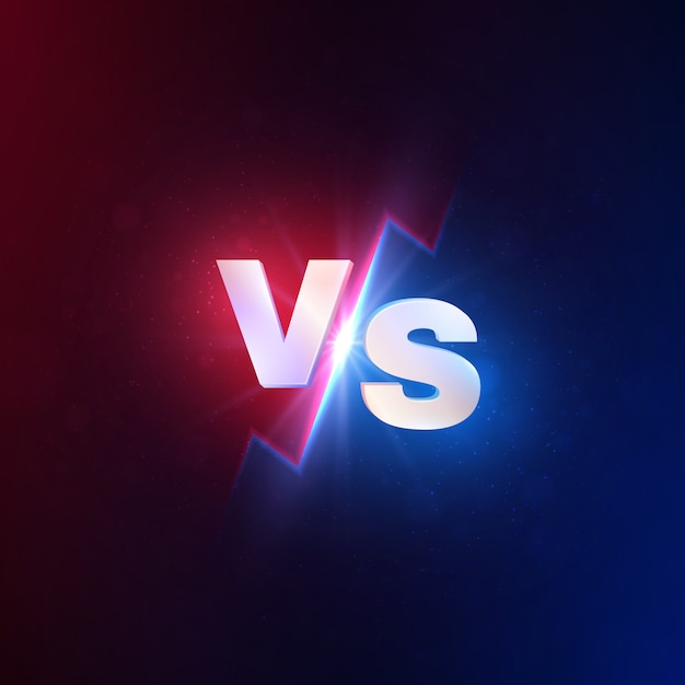 Versus fondo. vs competencia de batalla, desafío de lucha mma. lucha duel vs concurso concept Vector Premium