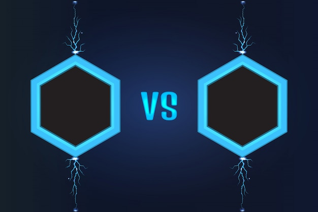 Versus vector de pantalla Vector Premium