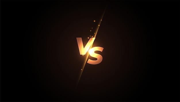 Versus vs banner de pantalla para batalla o comparación vector gratuito