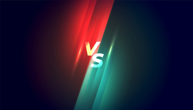 Versus vs competencia y antecedentes de lucha vector gratuito