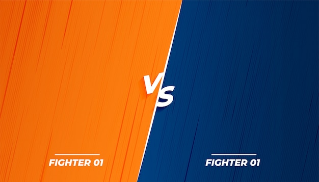 Versus vs fight battle diseño de pantalla de fondo vector gratuito