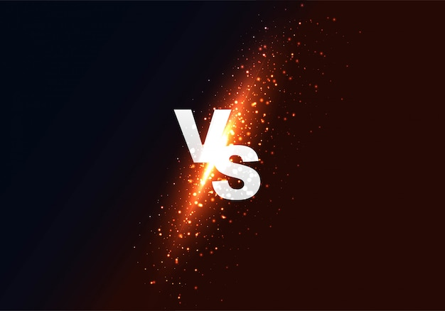 Versus vs fondo colorido brillante vector gratuito