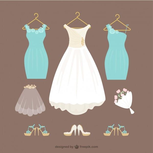 vestidos de novia   descargar vectores gratis