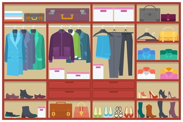 vestuario lleno de ropa descargar vectores premium