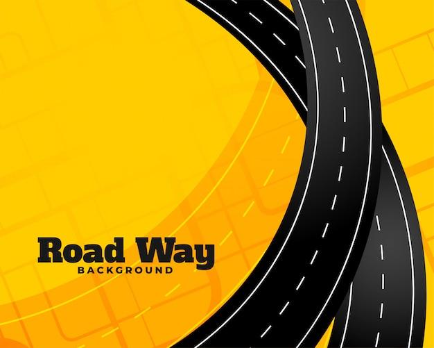 Viaje sinuoso fondo de viaje por carretera vector gratuito