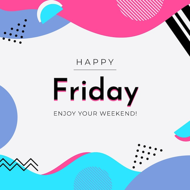 Viernes disfruta tu fondo de fin de semana vector gratuito