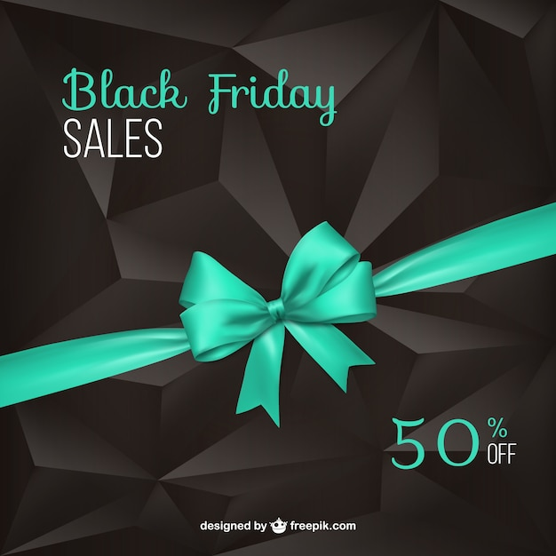 Viernes negro con cinta de color turquesa vector gratuito