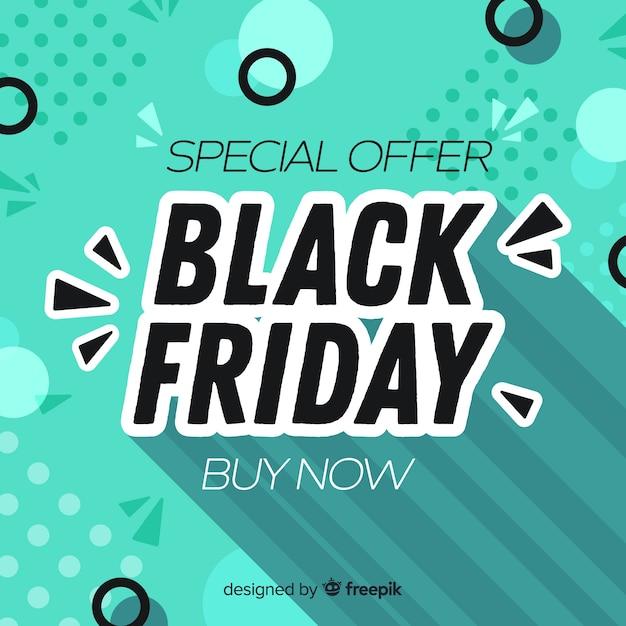 Viernes negro sobre fondo azul de memphis vector gratuito