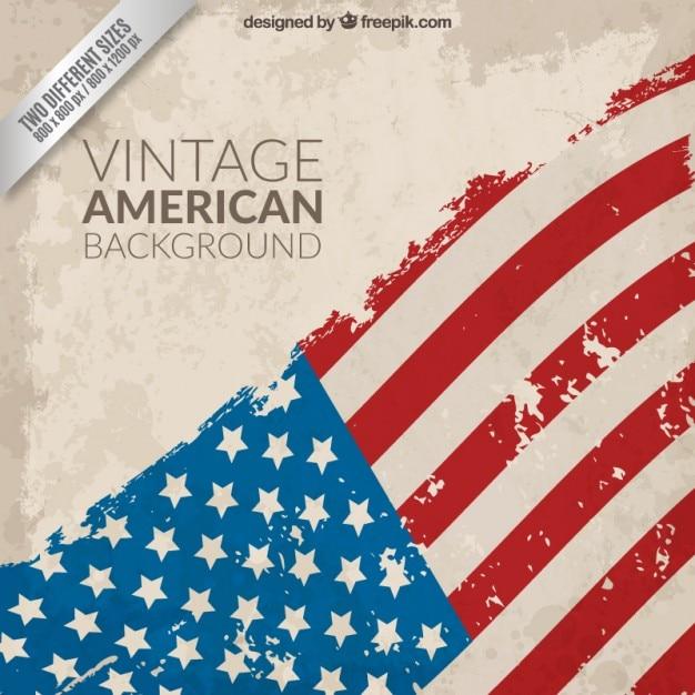 Vintage fondo de la bandera americana vector gratuito