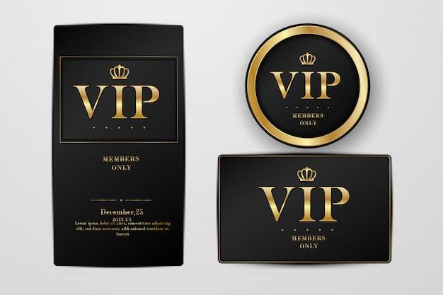 Vip Party Premium Tarjetas De Invitación Y Flyer Conjunto