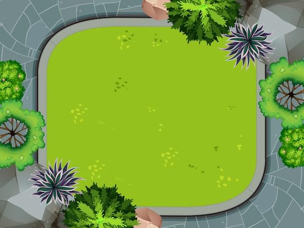 Vista aerea del jardin vector gratuito