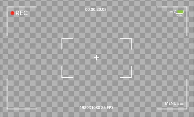 Vista de cámara moderna vector gratuito