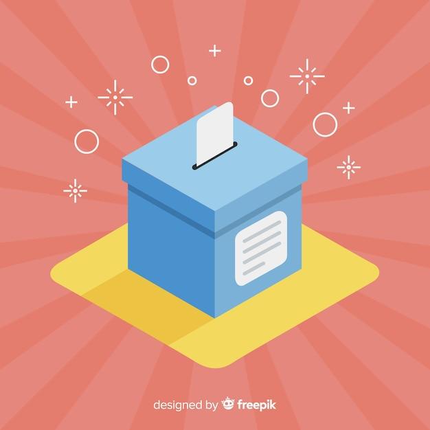 Vista isométrica de urna de elecciones vector gratuito
