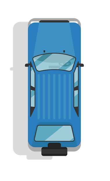 Vista superior de la carretera jeep aislado Vector Premium
