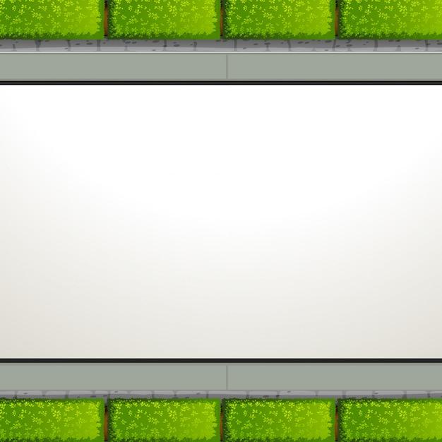 Vista superior jardín con copyspace vector gratuito